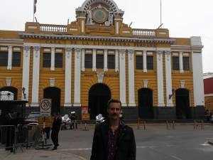 Your intrepid publisher at the House of Peruvian Literature!