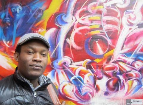 Fiston Mwanza Mujilla Graffiti
