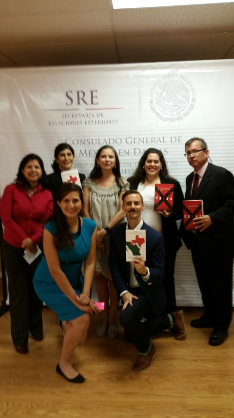 After Carmen's reading at the Mexican Consulate in Dallas with staff from the Consulate & The Mexico Institute (Oct. 22, 2014)