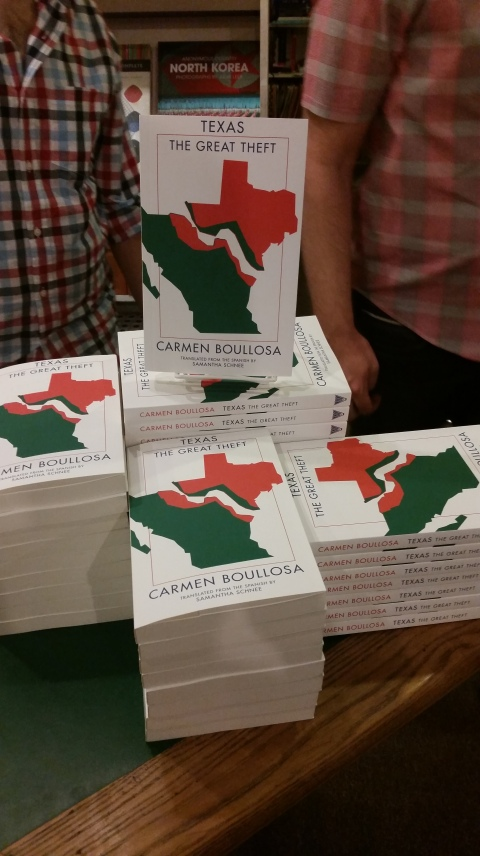 Display of TEXAS copies at Brazos Bookstore in Houston (Oct. 24, 2014)