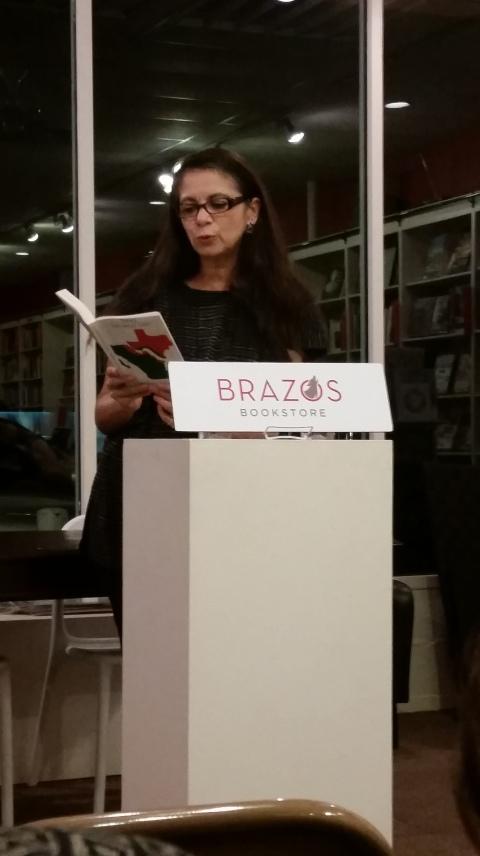 Carmen reading at Brazos Bookstore in Houston (Oct. 24, 2014)