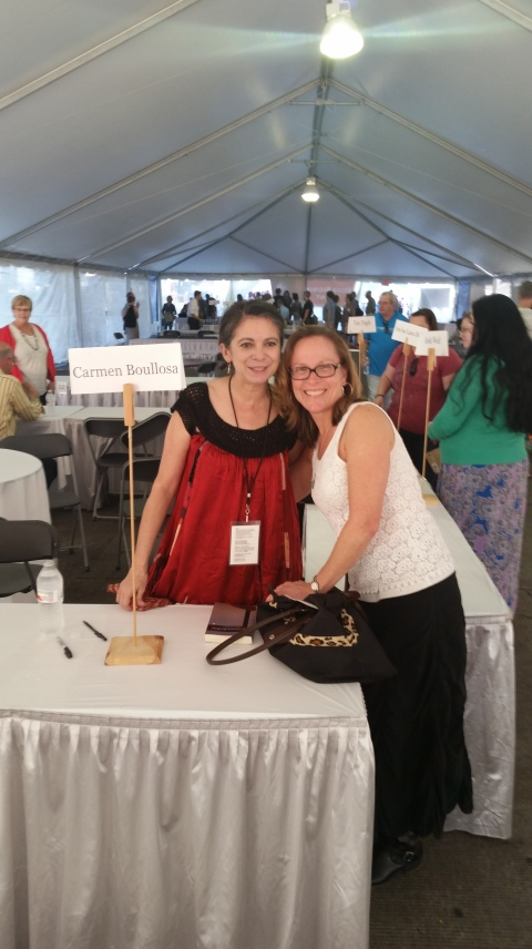 Carmen and one of her many translators, Shelby Vincent, a UT-Dallas PhD student in translation at the Texas Book Festival (Oct. 25, 2014)