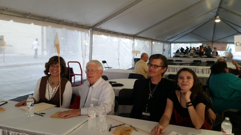 Carmen & her fellow panelists signing books at the Texas Book Festival (Oct. 25, 2014)