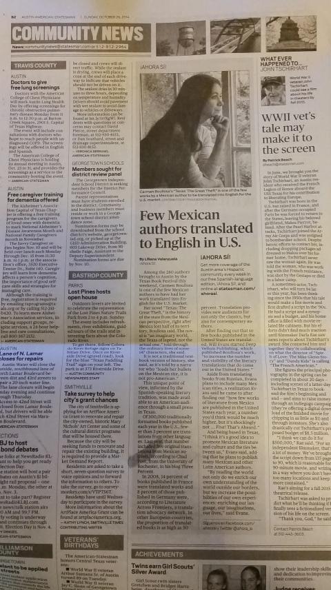 Austin American-Statesman (Oct. 26, 2014)