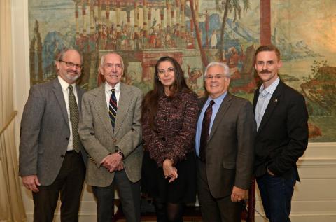(L to R: Dan Shapiro, Rolando Hinojosa-Smith, Carmen Boullosa, Nicolas Kanellos, Will Evans