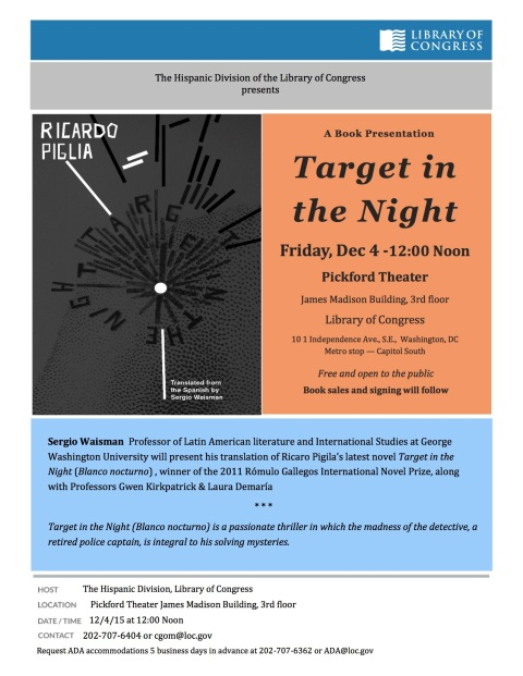 Waisman LOC Event Target In The Night (12-4-15)